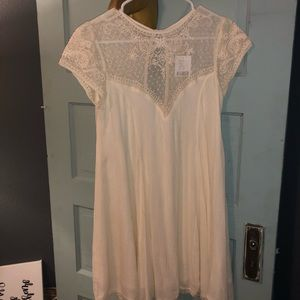 Urban Outfitters Ivory Babydoll Dress